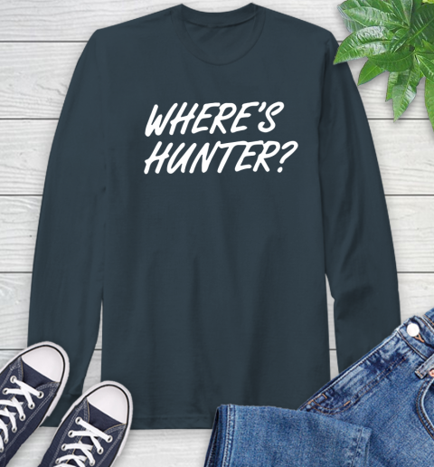 Where Is Hunter Long Sleeve T-Shirt 9