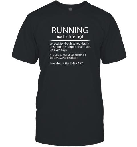 Funny Running Shirt Definition Running Noun Shirt Runner Running Workout Gifts T-Shirt