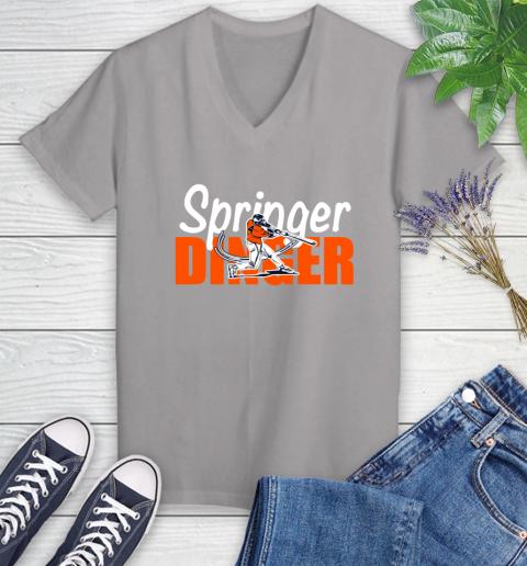 Houston Springer Dinger Fan Shirt Women's V-Neck T-Shirt 4