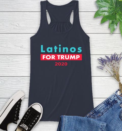 Latinos Trump 2020 Racerback Tank 12