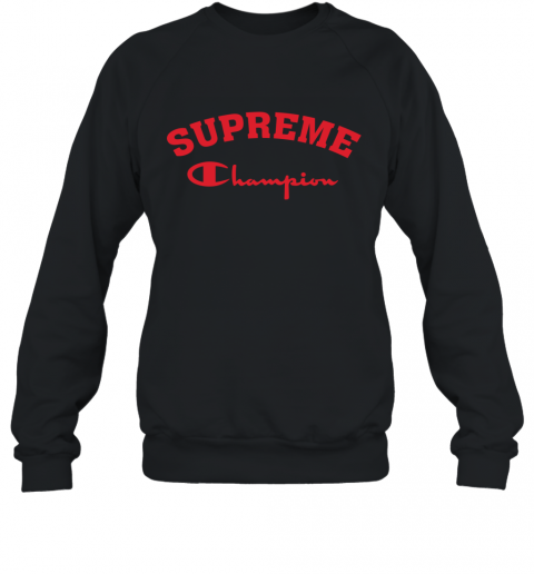 Supreme Logo x Champion Logo Red Unisex Sweatshirt