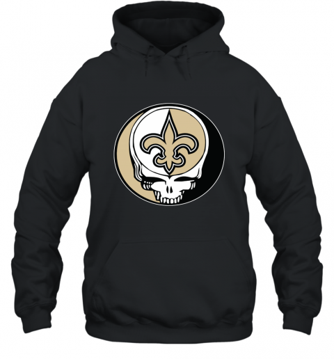 New Orleans Saints Grateful Dead Steal Your Face Football NFL Hooded Sweatshirt
