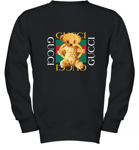 Gucci Logo and Teddy Bear Youth Sweatshirt