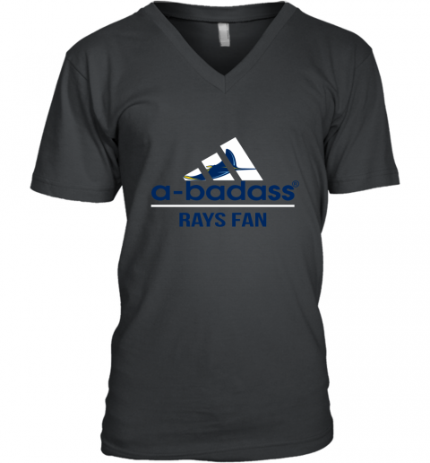 MLB A Badass Tampa Bay Rays Fan Adidas Baseball Sports V-Neck T-Shirt