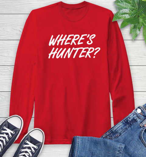 Where Is Hunter Long Sleeve T-Shirt 11