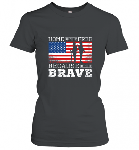 Home of the Free Because of the Brave Military American Flag Tank Top AN Women T-Shirt
