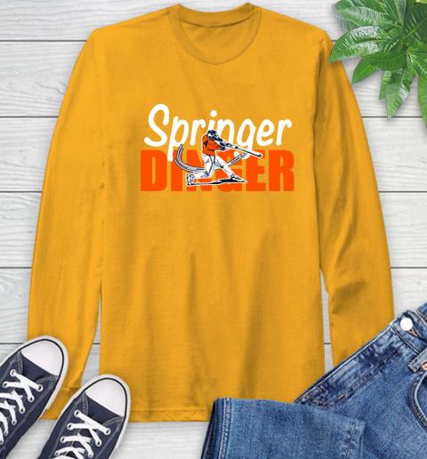 Houston Springer Dinger Fan Shirt Long Sleeve T-Shirt 2