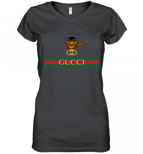 Gucci Logo Owl Premium Women's V-Neck T-Shirt