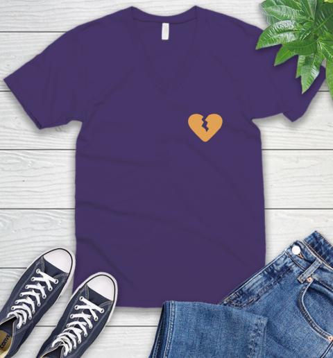 Marcus Lemonis broken heart V-Neck T-Shirt 10