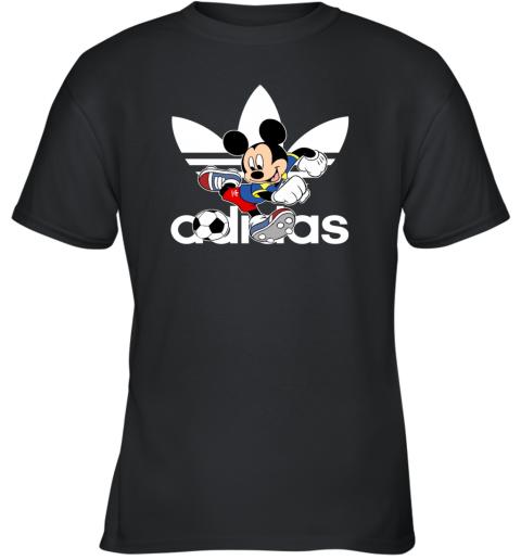 Adidas Logo Football Mickey Mouse Disney Youth T-Shirt