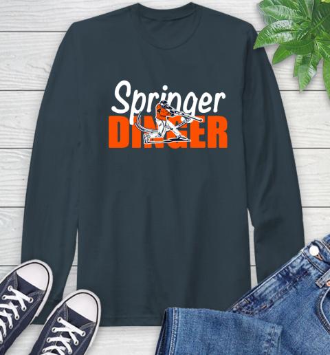 Houston Springer Dinger Fan Shirt Long Sleeve T-Shirt 9