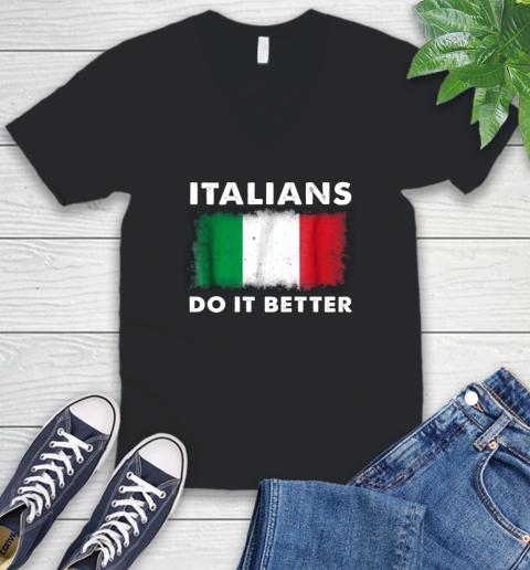 Italians Do It Better V-Neck T-Shirt 1