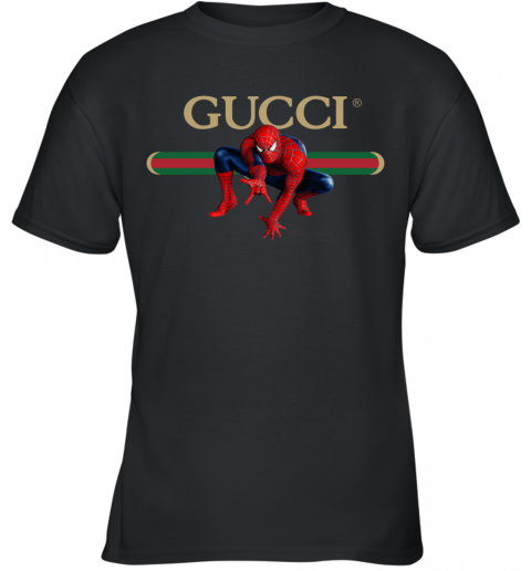 Gucci Logo Spiderman Youth T-Shirt