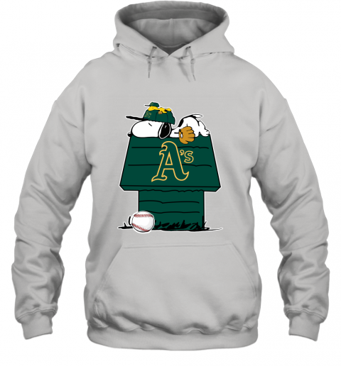 MLB Oakland Athletics Snoopy Woodstock The Peanuts Movie Baseball T Shirt Hoodie