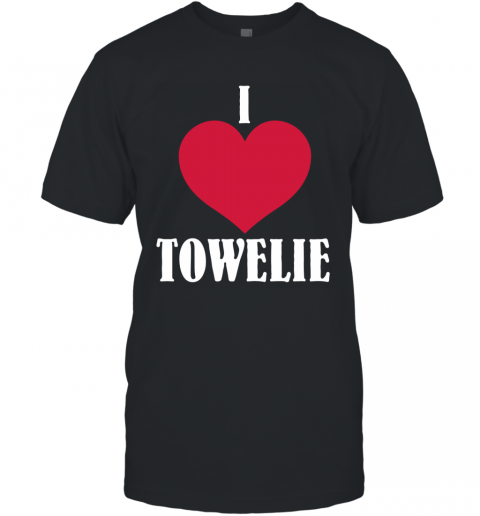 I LOVE TOWELIE RED HEART T-Shirt