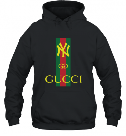 wholesale dealer eb04c f9221 Gucci Logo New York Yankees Hoodie