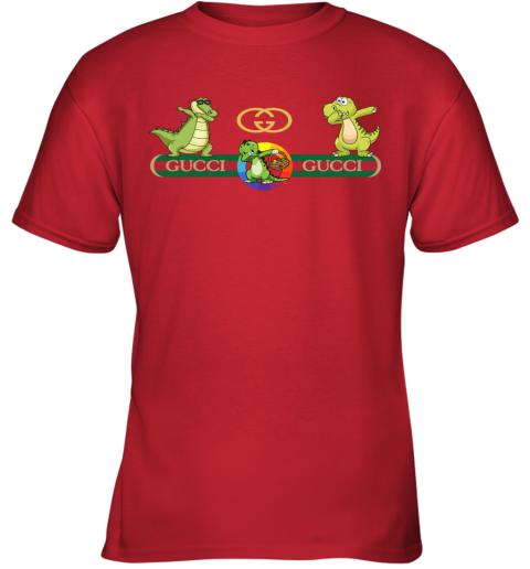 Gucci Logo Dinosaur Dabbing Dance Youth T-Shirt