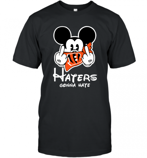 NFL Cincinnati Bengals Haters Gonna Hate Mickey Mouse Disney Football T Shirt T-Shirt