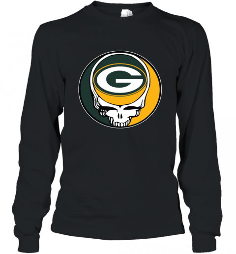 Green Bay Packer Grateful Dead Steal Your Face Football NFL Long Sleeve T-Shirt