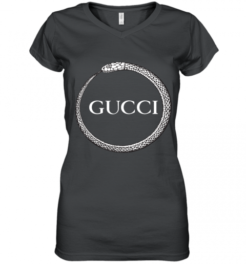 Gucci Ouroboros Print Women's V-Neck T-Shirt