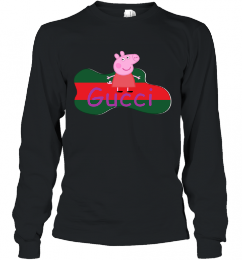 Peppa Pig Gucci Shirt Design Long Sleeve T-Shirt