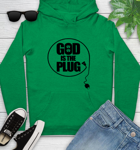 God is the plug Youth Hoodie 5