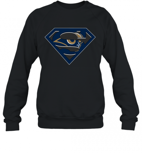 NFL Los Angeles Rams  LOGO Superman Sweatshirt