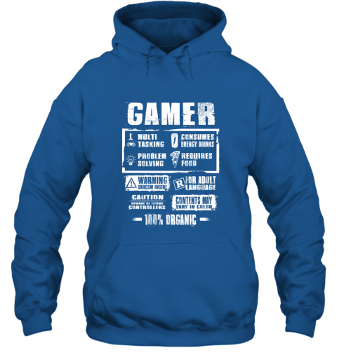 Funny Gamer Label Gift For Who Love Video Game Gaming Addicted Hoodie