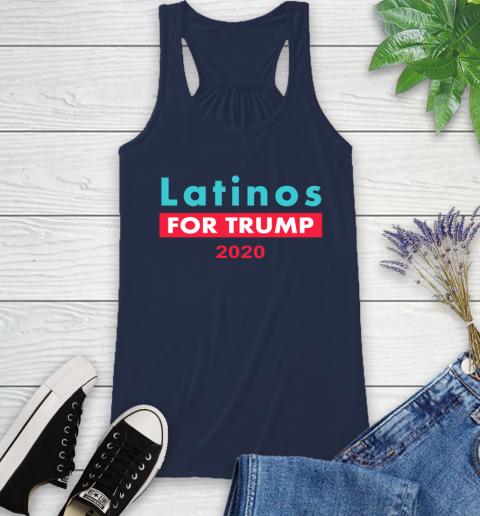 Latinos Trump 2020 Racerback Tank 10