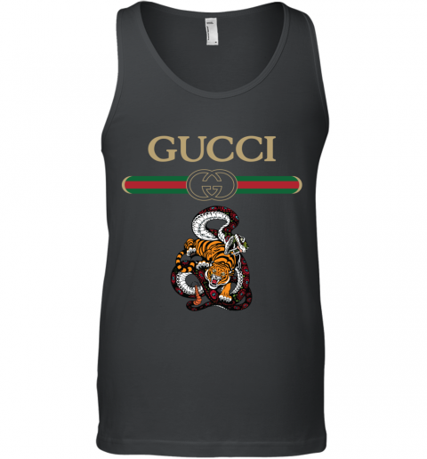 2020 Gucci Logo Fighting Snake Vs Tiger Tank Top