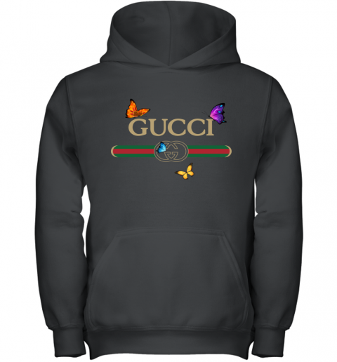 Gucci Logo Butterfly Printed Youth Hoodie