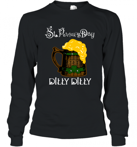NBA San Antonio Spurs St Patrick's Day Dilly Dilly Beer Basketball Sports Long Sleeve T-Shirt