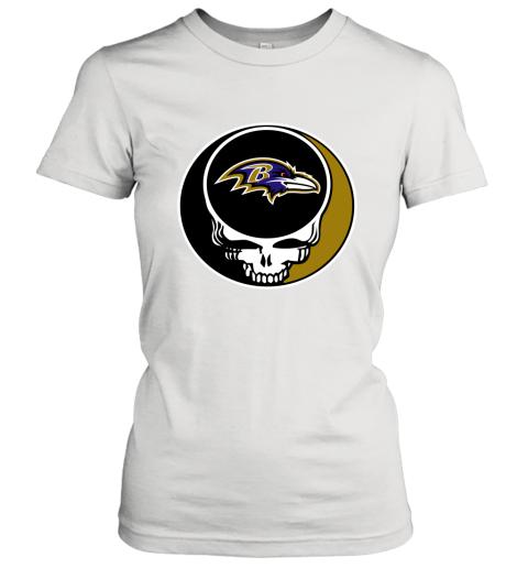 NFL Baltimore Ravens Grateful Dead Rock Band Football Sports Women's T-Shirt