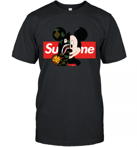 Mickey Mouse Supreme Bape T-Shirt
