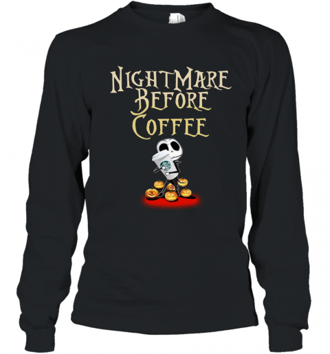 Nightmare Before Coffee Jack Skellington Youth Long Sleeve