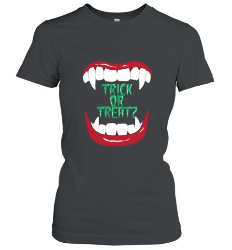Trick or Treat Halloween Vampire Fangs Monster Teeth shirt Women's T-Shirt