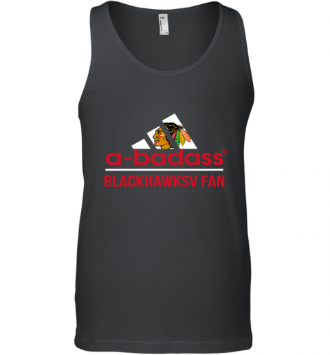 NHL A Badass Chicago Blackhawks Fan Adidas Hockey Sports Tank Top