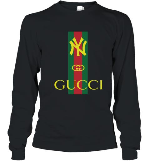 Gucci Logo New York Yankees Youth Long Sleeve T-Shirt