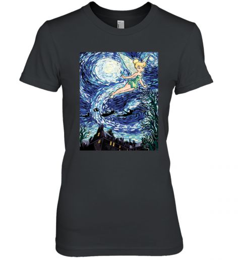 Disney Peter Pan Tinker Bell Starry Night Portrait Women's Premium T-Shirt