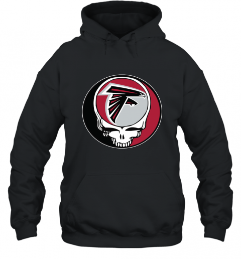 Atlanta Falcons Grateful Dead Steal Your Face Football NFL Hooded Sweatshirt