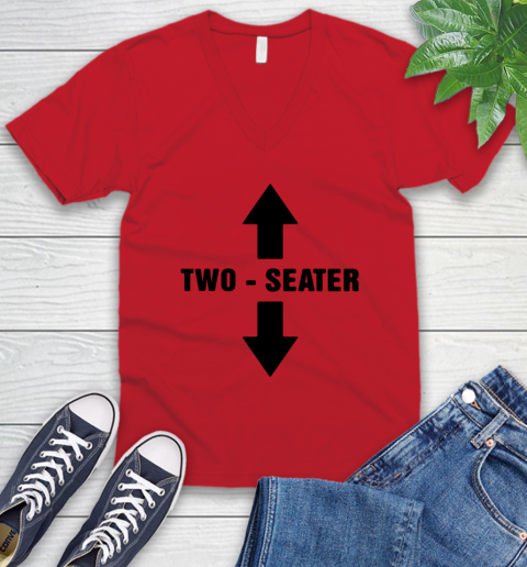 Two Seater V-Neck T-Shirt 4