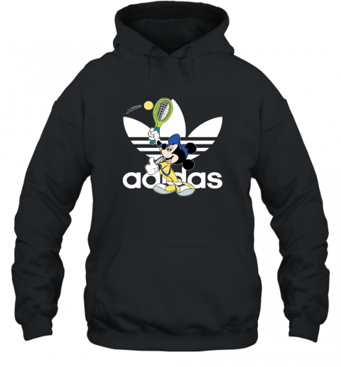 Adidas Logo Mickey Mouse Tennis Sports Hoodie