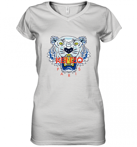 Kenzo Paris Unisex Women's V-Neck T-Shirt