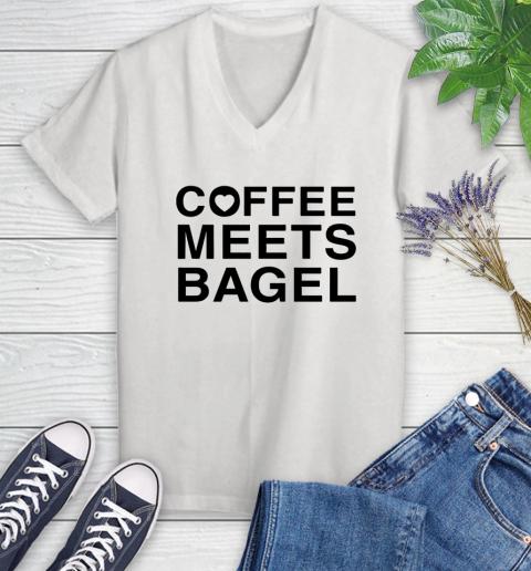 Coffee Meets Bagel Black Womens V Neck T Shirt