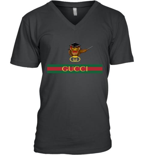 Gucci Logo Owl Premium V-Neck T-Shirt