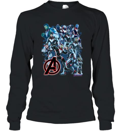 Avengers Endgame Poster Quantum Realm Uniform Shirt Long Sleeve T-Shirt