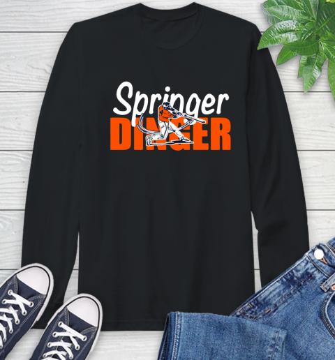 Houston Springer Dinger Fan Shirt Long Sleeve T-Shirt 1