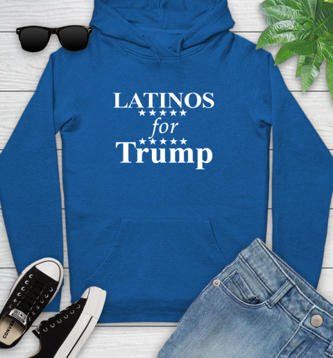 Latinos For Trump Youth Hoodie 11