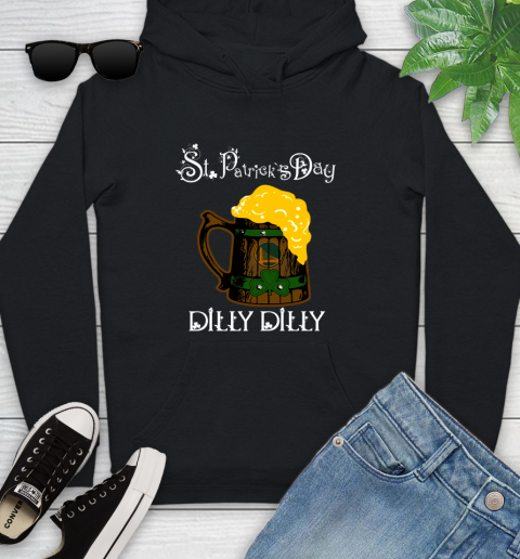 Nba Golden State Warriors St Patricks Day Dilly Dilly Beer Basketball Sports Youth Hoodie