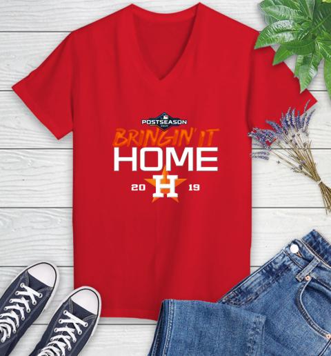 Bringing It Home Astros Women's V-Neck T-Shirt 11